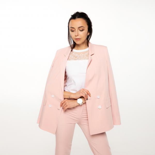 Жакет двубортный, цвет - розовый