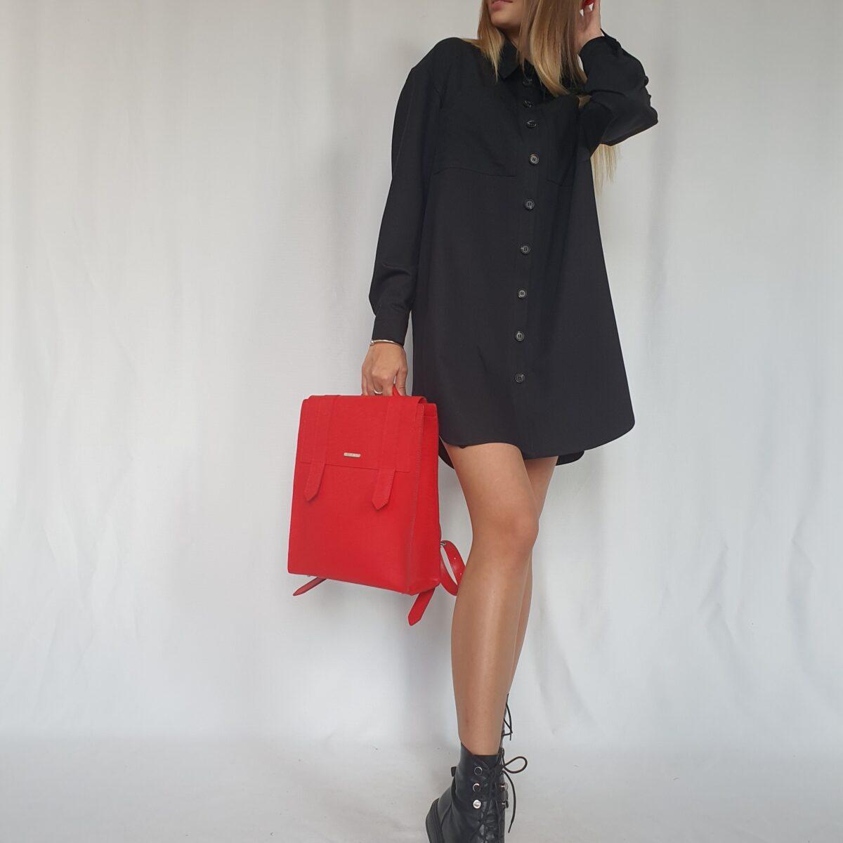❤ Платье мини в стиле сафари. Цвет чёрный