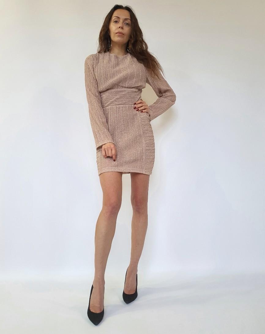 Платье мини с блестящей отделкой